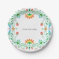 Mexican Fiesta Party Paper Plates | Zazzle.com