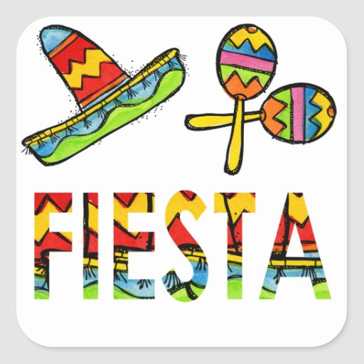 mexican fiesta party sombrero maraca