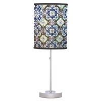 Mexican Talavera tile design Table Lamps | Zazzle