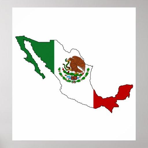 Mexico Flag Map full size Print Zazzle