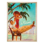 Miami, FL -Couple Postcard