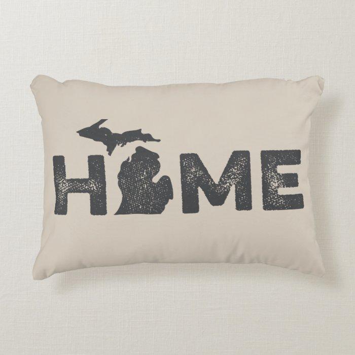 Michigan Home State Love Pillow  Zazzle