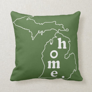 Michigan Home Pillows  Decorative  Throw Pillows  Zazzle