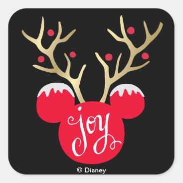 Mickey & Friends   Mickey Christmas Joy Square Sticker