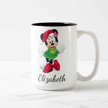 Mickey & Friends | Minnie Dressed For Christmas Two-Tone Coffee Mug