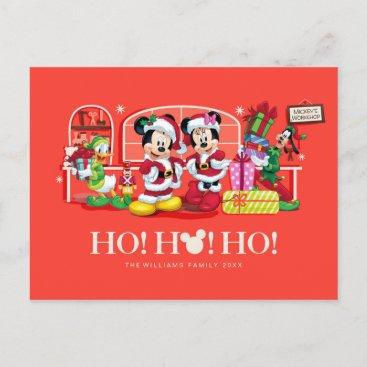 Mickey & Minnie   Ho Ho Ho Postcard