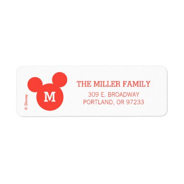 Mickey & Minnie | Ho Ho Ho Red Icon with Monogram Label