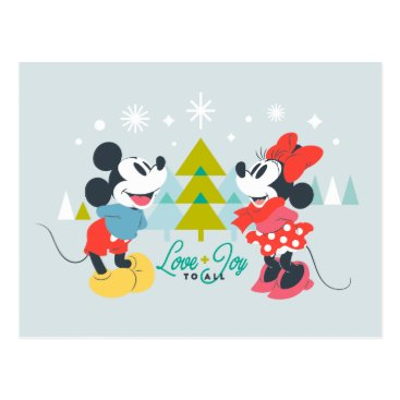 Mickey & Minnie |  Love & Joy To All Postcard