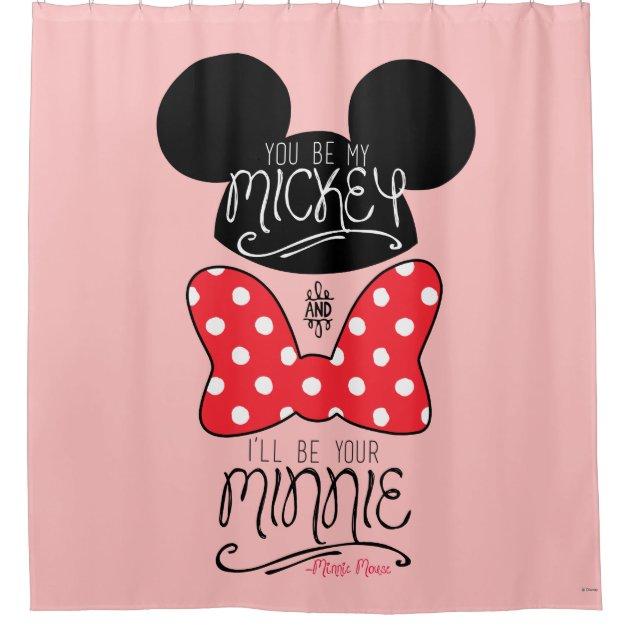 mickey minnie love shower curtain zazzle com
