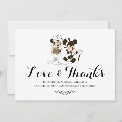 Mickey &amp&#x3B; Minnie Wedding | Married Thank You