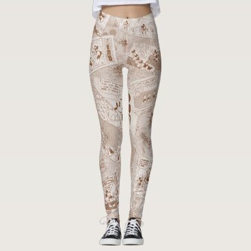 Mickey Mouse | Antique Mickey Comic Pattern Leggings