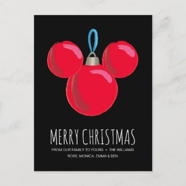 Mickey Mouse Christmas Ornament Holiday Postcard