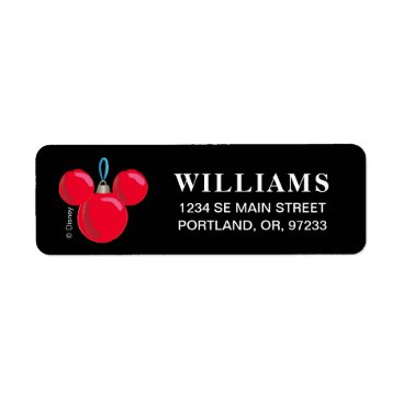 Mickey Mouse Christmas Ornament Label