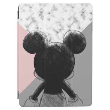 Mickey Mouse | Color Block - Pink Grey Marble iPad Air Cover