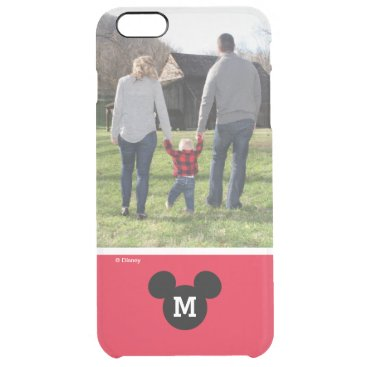 Mickey Mouse | Custom Photo & Monogram Clear iPhone 6 Plus Case