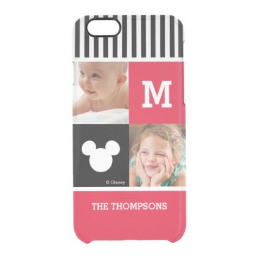 Mickey Mouse | Custom Photos & Monogram Clear iPhone 6/6S Case