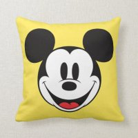 Mickey Mouse Smiling Pillows | Zazzle