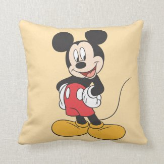 Mickey Mouse Throw Pillow