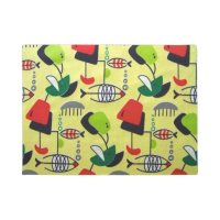 Mid Century Modern Atomic Fish Design Door Mat | Zazzle