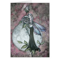 Midnight Rose Greeting Card by Molly Harrison