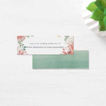 Midsummer Floral Wedding Website RSVP Cards
