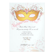 Midsummers Night Masquerade Ball Party Invitation