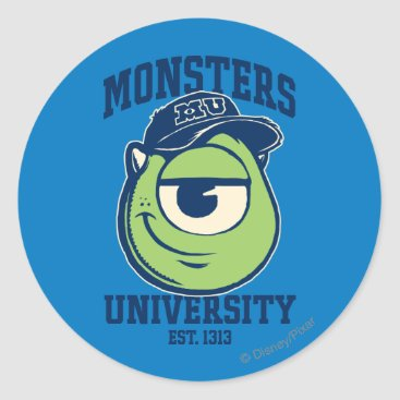 Mike Monsters University Est. 1313 Classic Round Sticker