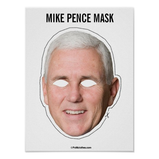 mike pence mask cutout