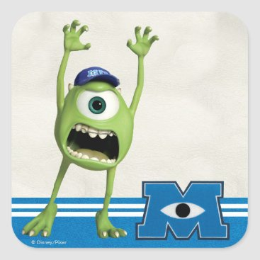 Mike Scaring Square Sticker