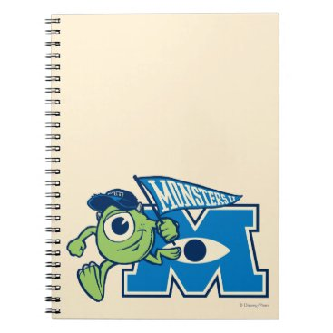 Mike with Monsters U Flag Notebook