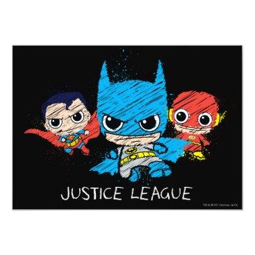Mini Justice League Sketch Card
