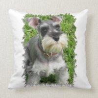 Miniature Schnauzer Pillow | Zazzle