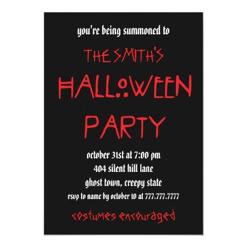 Minimal Halloween Party Invitation