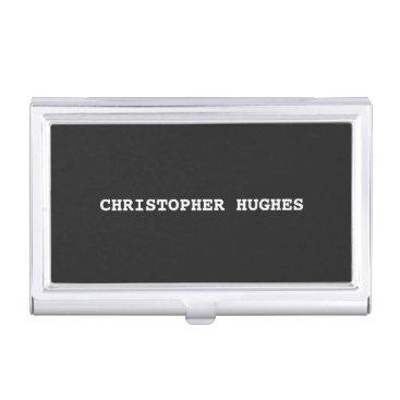Minimalist Classic Elegant Black and White Business Card Holder
