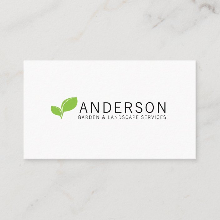 Minimalist Garden Landscaping Service Business Card Zazzle Com