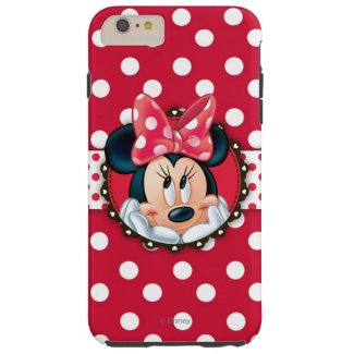 Minnie Polka Dot Frame Tough iPhone 6 Plus Case