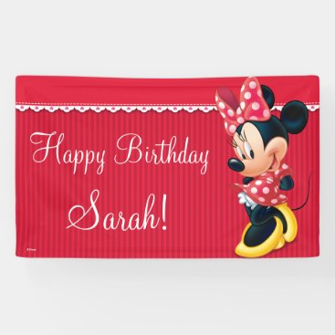 Minnie Red and White Birthday Banner