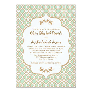 Moroccan Style Wedding Invitations