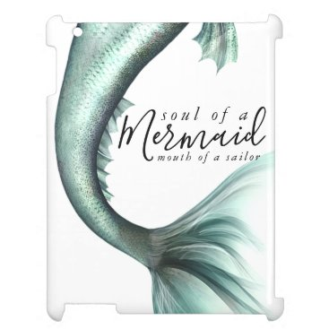 Mint Mermaid Soul Sailor Mouth | Green Sage Case For The iPad