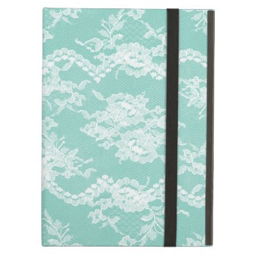 Mint Romantic Lace Cover For iPad Air