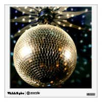 Mirrored Disco Ball 3 Wall Decal | Zazzle
