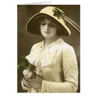 Miss Gladys Cooper Greeting Card