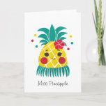 ❤️ Miss Hawaiian Pineapple Card