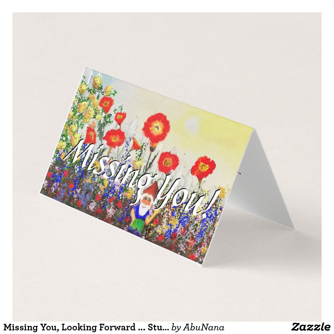 Missing You, Looking Forward ... Stunning Card