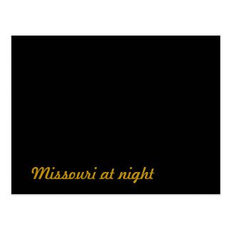 Missouri at night post cards