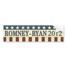 Mitt Romney Paul Ryan in 2012 Bumper Stickers