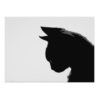 Thoughtful Black Kitten Poster