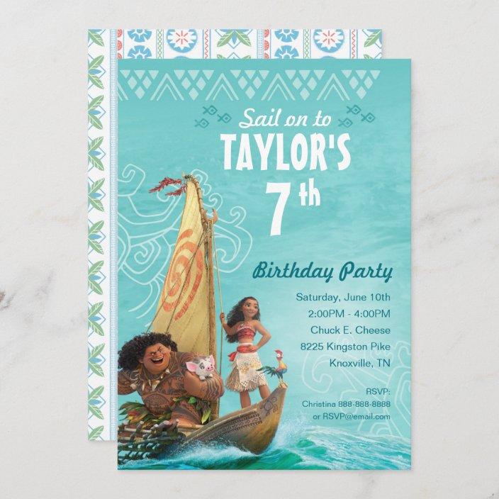 moana oceania birthday invitation zazzle com