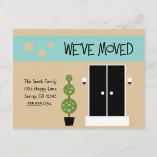 just moved postcards zazzle