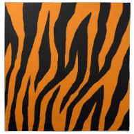 Mod Tiger Zebra Print Orange Cloth Napkins on Zazzle